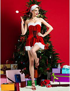 Aufführung-Kleider(Rot,Polyester,Aufführung) - fürDamen Weihnachten