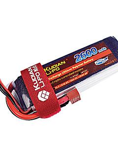 kudian rc batteri 45 ° C 2600mAh t plug 6s