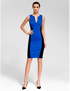 Homecoming Cocktail Party Dress - Royal Blue Sheath/Column V-neck Short/Mini Polyester