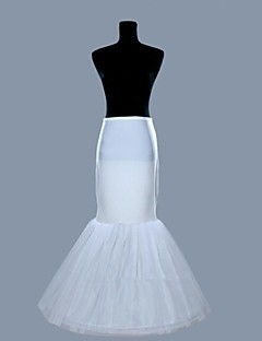Slips Mermaid and Trumpet Gown Slip Floor-length 2 Lycra Organza White
