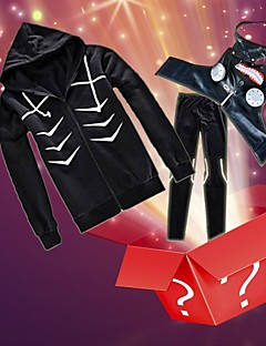 Tokyo Ghoul Ken Kaneki Cosplay Costume + Accessory (Random Gifts)