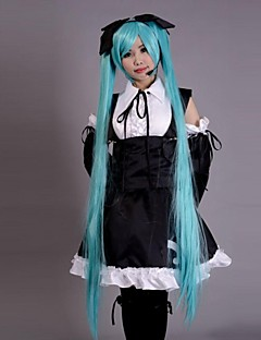 Inspired by Vocaloid Hatsune Miku Video Game Cosplay Costumes Cosplay Suits Dresses Patchwork Sleeveless Dress Headpiece Sleeves