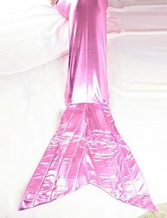 adorável rabo de peixe lycra rosa traje cosplay