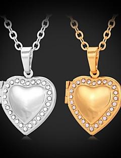 女性 チョーカー ペンダントネックレス ロケットネックレス 模造ダイヤモンド ラインストーン プラチナメッキ ゴールドメッキ 模造ダイヤモンド ファッション シルバー ゴールデン ジュエリー 結婚式 パーティー 日常 カジュアル 1個