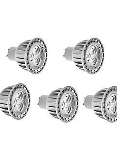 4W GU10 LED-spotlys Højeffekts-LED 280 lm Varm hvid AC 85-265 V 5 stk.
