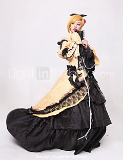 Inspired by Vocaloid Kagamine Rin Video Game Cosplay Costumes Cosplay Suits Patchwork Black Long Sleeve Dress / Headpiece / Cravat