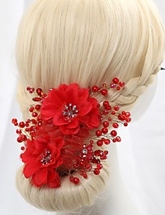 Women's Flower Girl's Crystal Alloy Imitation Pearl Cubic Zirconia Headpiece-Wedding Special Occasion Headbands Flowers Wreaths
