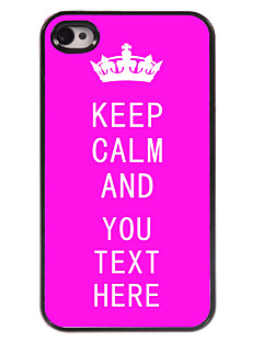 Personalized Case Rose Keep Calm Design Metal Case for iPhone 4/4S