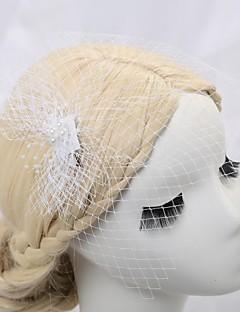 tyl og satin bryllup / fest blusher slør