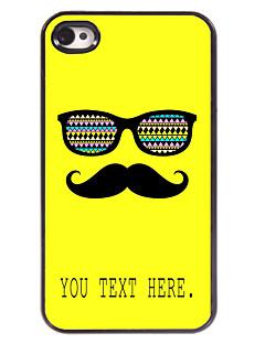 아이폰 4 / 4S에 대한 개인의 경우 콧수염과 안경 디자인 금속 케이스