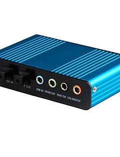 usb scheda audio a 6 canali 5.1 ottica scheda audio chipset convertitore cm6206 esterno