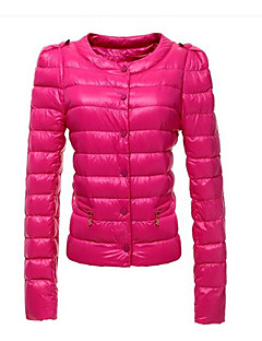 моды случайные круглым воротом теплое пальто TYT женщин