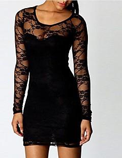 Коко Чжан всего матча кружева сплайсинг Bodycon платье