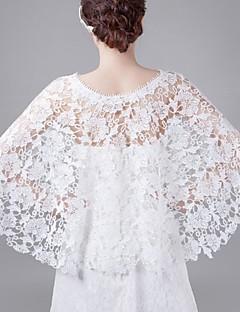 la primavera e l'estate bianco traforato sposa scialle wedding sezione sottile