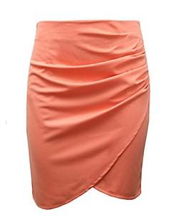 Women's Blue / White / Black / Orange Skirts,Sexy Knee-length