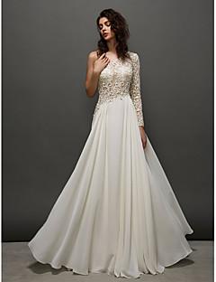 homecoming ts couture prom / avondjurk - ivoor a-lijn een schouder vloer-length kant