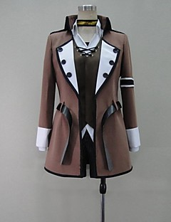 Inspired by Vocaloid Kagamine Len Video Game Cosplay Costumes Cosplay Suits Patchwork Brown Long Sleeve Coat / Shirt / Pants / Belt