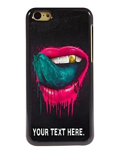 kişiselleştirilmiş durumda dudak ve iphone 5c için dil tasarım metal kasa