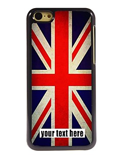 personlig fall union jack designen metallhölje för iphone 5c