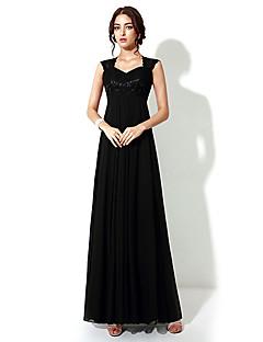Vestido - preto Festa Formal Linha-A Longo