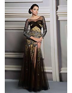 A-line One shoulder Floor-length Evening Dress(31225)