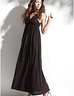 Ankle-length Silk Bridesmaid Dress - Black Ball Gown Sweetheart