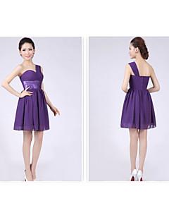 Short/Mini Bridesmaid Dress A-line/Princess One Shoulder