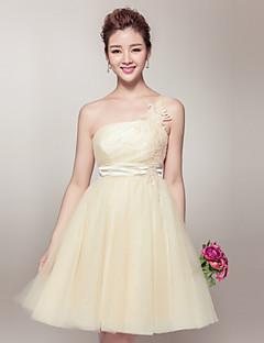 Short/Mini Organza Bridesmaid Dress - Daffodil A-line Strapless