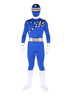 Power Ranger GoGo Sentai Boukenger Bouken Blue Zentai Cosplay Costume