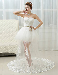 Ball Gown Wedding Dress Court Train Sweetheart Lace