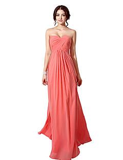 Vestito - Arancione/Rosso/Lilla/Blu/Champagne/Anguria/Come nell'immagine Sera Trapezio Cuore A Terra