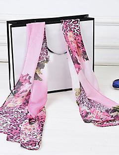 damens vakker farge leopard leopard trykt chiffon skjerf sjal (assortert farge)