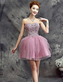 Homecoming/Holiday Dress A-line Sweetheart Short/Mini Tulle Dress