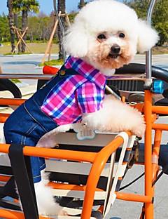 כלבים תחפושות סרבלים ירוק ורד בגדים לכלבים חורף קיץ/אביב ג'ינסים קוספליי יום יומי\קז'ואל