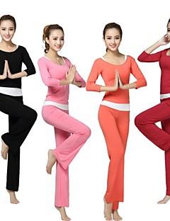 Mulheres Ioga Calças / Ternos Meia MangaAlta Respirabilidade (>15,001g) / Permeável á Humidade / Compressão / Respirável / Secagem Rápida