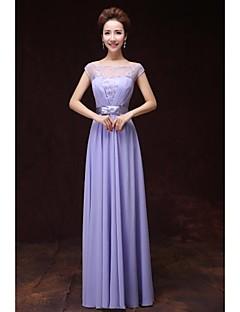 Formal Evening Dress A-line Bateau Floor-length Satin with Pockets