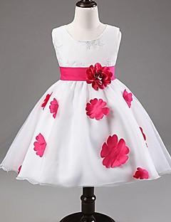 Flower Girl Dress Knee-length Satin/Tulle Ball Gown/Princess Sleeveless Dress