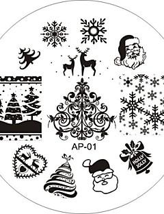 Nail Art Stamp Stamping Image Template Plate AP Series NO.1