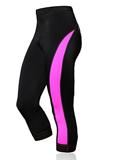 SPAKCT® Cycling 3/4 Tights Women's Breathable / Compression / 3D Pad Bike Pants/Trousers/Overtrousers / Jersey Spandex / NylonClassic /