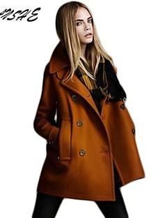 Standardní - Velké velikosti / Běžné nošení - Dlouhý rukáv - Kabát (Polyester / Směsi vlny / Elastan / Směsi bavlny / Lycra)