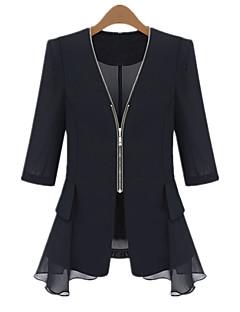 Women's Fashion Stepped Hem 3/4 Length Sleeve Blazer(More Colors)