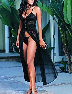 Black Polyester Lovely Sexy Lingerie Women Evening Dress