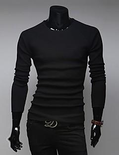 Men's Round T-Shirts , Cotton Long Sleeve Casual / Work Fashion All Seasons Jasin