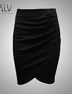 Women's Big Yards Solid OL Pencil Skirts