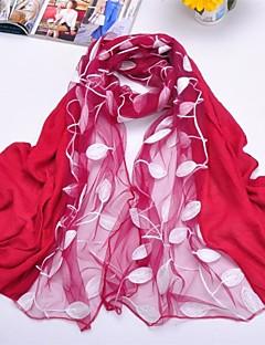 숄 쉬폰는 / 폴리 에스테르 자수 스카프 (더 많은 색상)를 잎