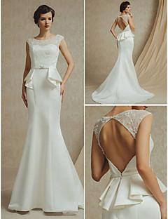 웨딩 드레스 A 라인 쿼트 트레인 스트랩