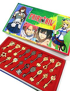 Mehre Accessoires Inspiriert von Fairy Tail Cosplay Anime Cosplay Accessoires Schlüsselanhänger Gold Legierung Frau