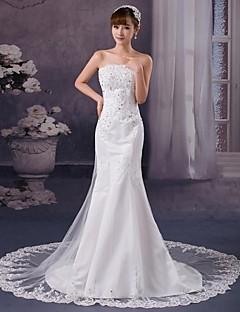 Trumpet/Mermaid Court Train Wedding Dress -Strapless Tulle