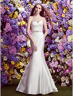 Lan Ting Trumpet/Mermaid Wedding Dress - Ivory Court Train Sweetheart Satin