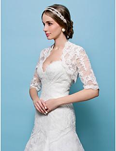 bryllup wraps boleroer blonder hvid / beige bolero skuldertræk